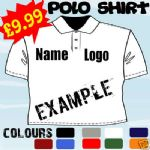 PERSONALISED TOP WORK WEAR EMBROIDERED POLO SHIRT